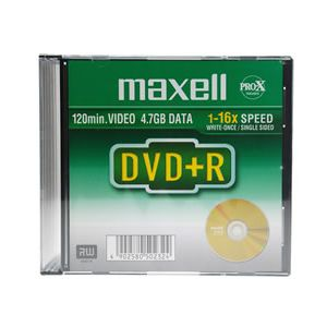 MAXELL DVD+R 4.7GB 16X 10MM KUTULU - 275521.30.TW