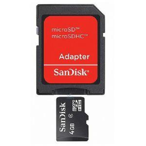 4GB MICRO SD KART+ADAPTOR C4 SANDISK SDSDQM-004-B35A