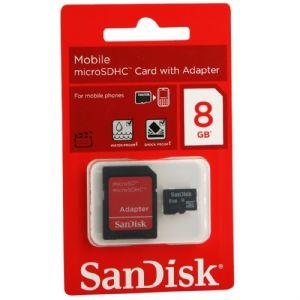 8GB MICRO SD KART+ADAPTOR C4 SANDISK SDSDQM-008-B35A