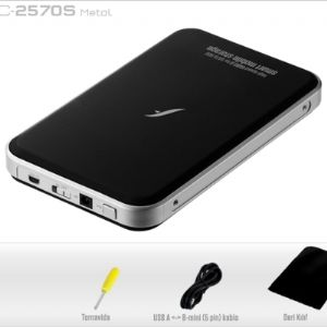FRISBY FHC-2570S 2.5 SATA ALÜMİNYUM USB HDD KUTU