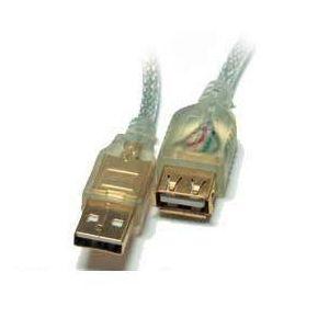 S-LINK SL-AF2015 ŞEFFAF LÜKS USB 2.0 UZATMA KABLOSU 1.5M
