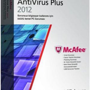 MCAFEE ANTIVIRUS PLUS FIREWALL 2012 1 KULLANICI