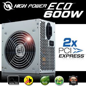 HIGH POWER ECO AKTIF PFC POWER SUPPLY 600W HPE-600-A12S