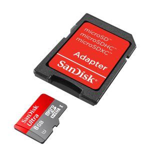 8GB MICRO SD+ADP C10 ULTRA ANDROID SANDISK SDSDQUA-008G-U46A