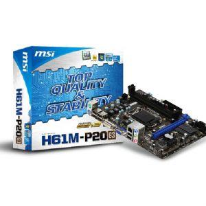 MSI H61M-P20 G3 DDR3 VGA DVI LAN SATA2 USB2.0