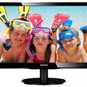 19 PHILIPS 190V4LSB/01 LED 5MS 16:10 SİYAH D-SUB+DVI