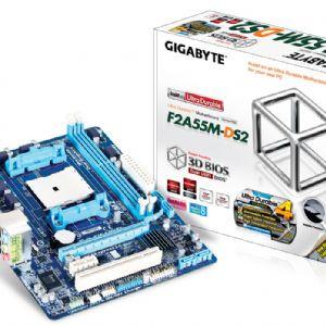 GIGABYTE F2A55M-DS2 FM2 DDR3 SES VGA GLAN 16X