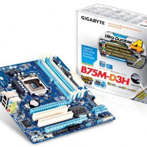 GIGABYTE B75M-D3H DDR3 SES VGA GLAN 16X