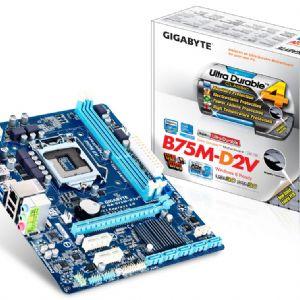 GIGABYTE B75M-D2V DDR3 SES VGA GLAN 16X