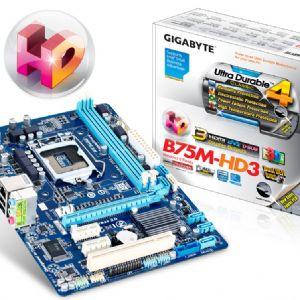 GIGABYTE B75M-HD3 DDR3 SES VGA GLAN 16X