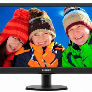 18.5 PHILIPS 193V5LSB2/62 LED 5MS SİYAH D-SUB