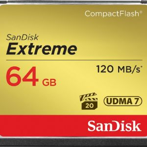 64 GB CF KART 120Mb/s EXTREME SANDISK SDCFXS-064G-X46