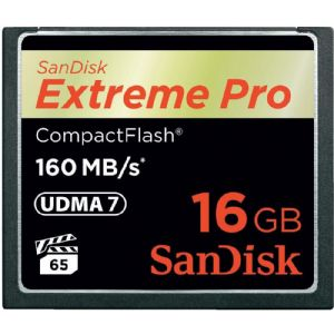 16 GB CF KART 160Mb/s EXT PRO SANDISK SDCFXPS-016G-X46