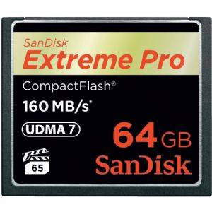 64 GB CF KART 160Mb/s EXT PRO SANDISK SDCFXPS-064G-X46