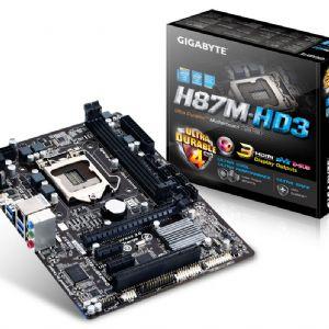 GIGABYTE H87M-HD3 DDR3 SES VGA GLAN 16X