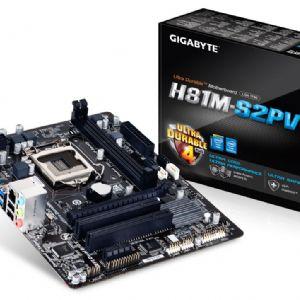 GIGABYTE H81M-S2PV DDR3 SES VGA GLAN 16X