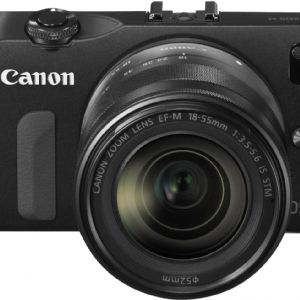 CANON EOS-M 18-55mm LENSLİ AYNASIZ + 90EX FLASH +22MM STM FOTOĞRAF MAKİNESİ