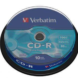 VERBATIM 43437 AZO CD-R 700MB 52X80 10 LU CAKEBOX